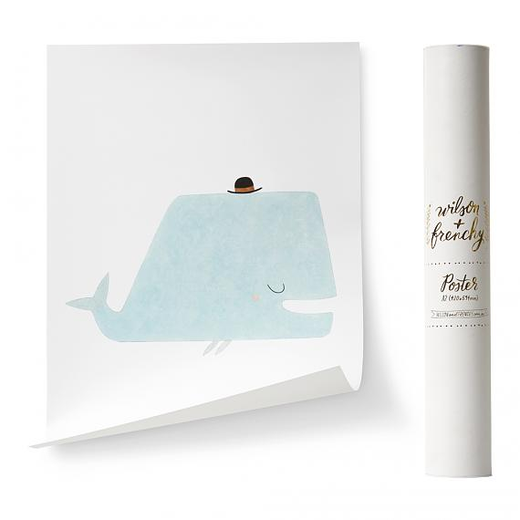 Limited Edition Little Whale A2 Poster designed in Australia by wilson & frenchy