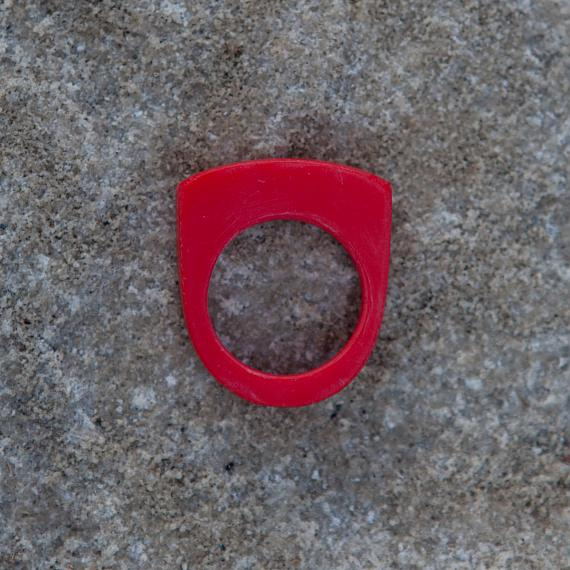 Stacking Ring - Red Resin - designed in Australia by mooku