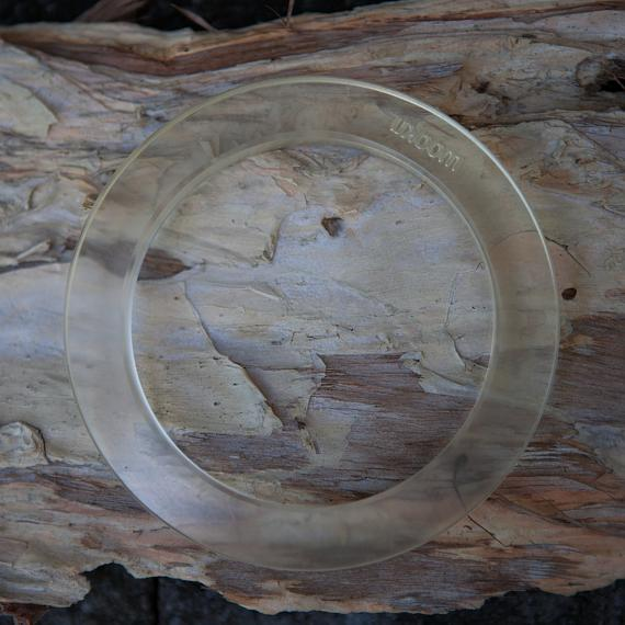 Resin Bangle - Transparent - designed in Australia by mooku