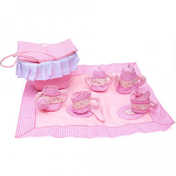 Pink Gingham Picnic Set designed in Australia by Growing World