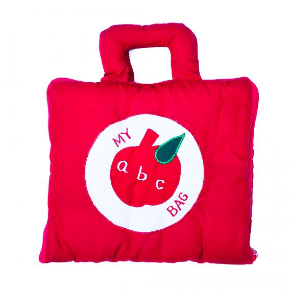 My ABC Bag - Red Soft Book Bag - designed in Australia by Growing World