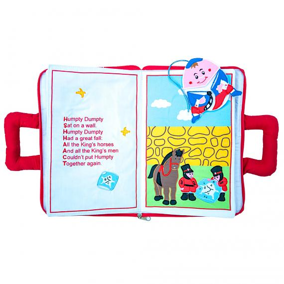 Humpty Dumpty - My Favourite Nursery Rhymes Red Soft Book Bag - designed in Australia by Growing World