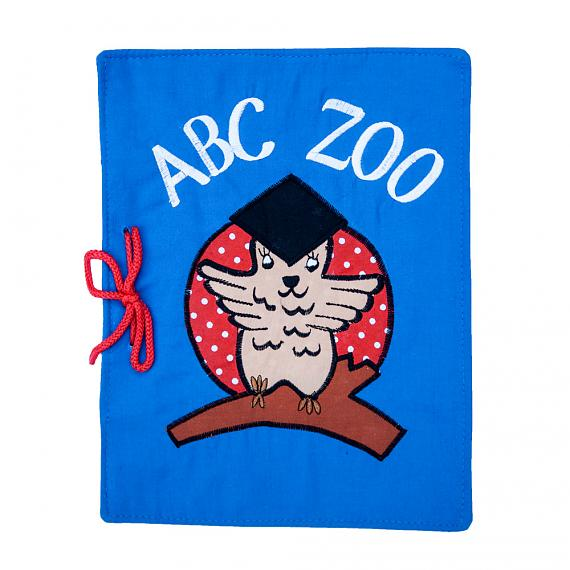ABC ZOO Blue Soft Book - designed in Australia by Growing World