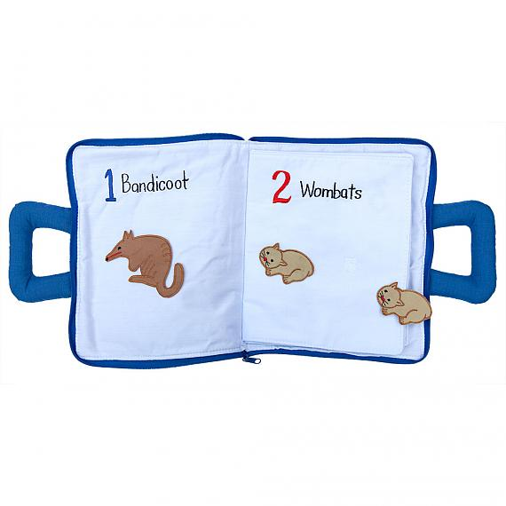 Inside Australian Counting Book Bag Soft Activity Book designed in Australia by Growing World