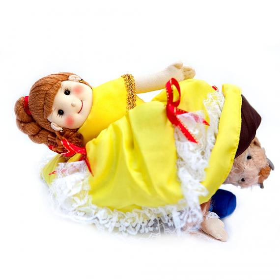 Belle - Beauty and the Beast 3-Way Soft Fabric Storybook Doll Large - designed in Australia by Growing World