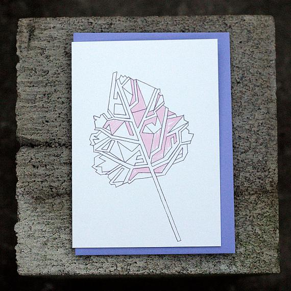 Abstract Leaf Greeting Card by Non-Fiction