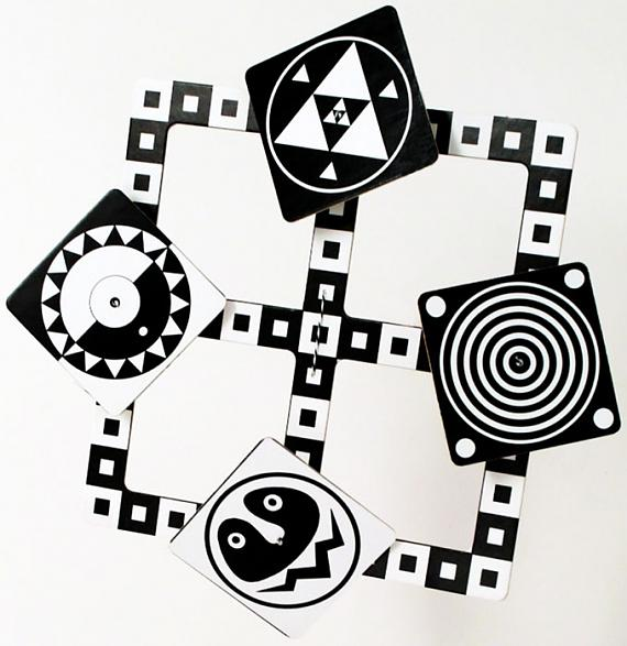 Black and White Baby Mobile designed and made in Australia by Tina Matthews