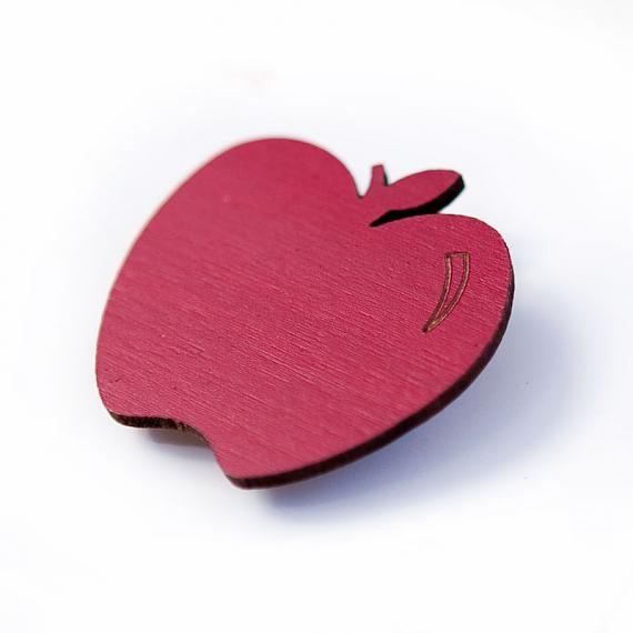 Red Apple Brooch by love hate