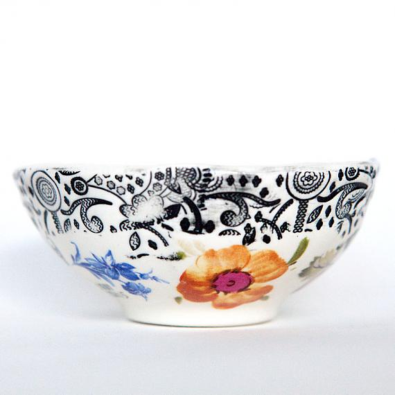 Floral Small Bowl by Iggy and Lou Lou