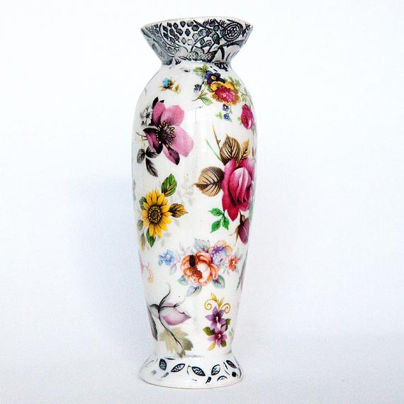 Floral Bud Vase by Iggy and Lou Lou