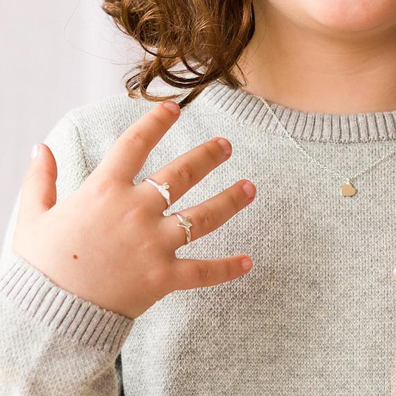 Little Childrens Rings in Silver - designed in Melbourne by LoveHate