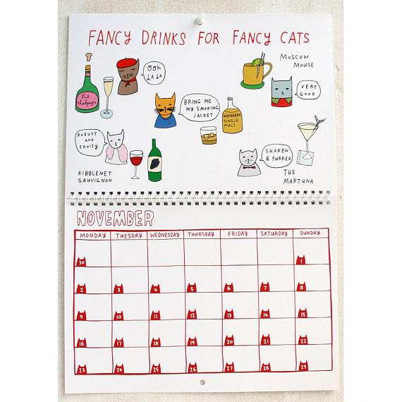 2015 Kitty Calendar - designed and made in Melbourne by Able and Game