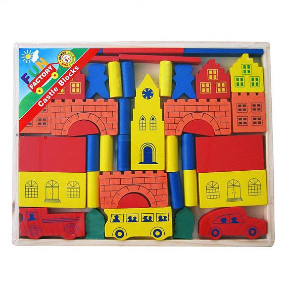Wooden Castle Blocks Imaginative Play Game designed in Australia by Fun Factory
