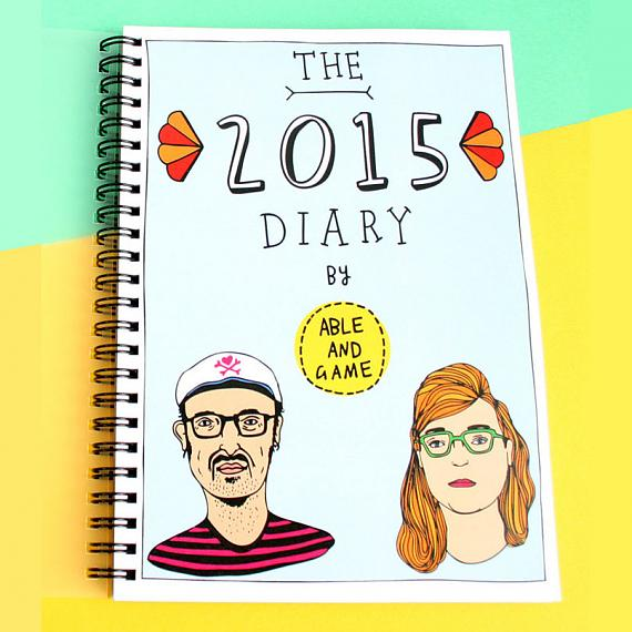 Able and Game 2015 Diary front cover - designed and made in Melbourne