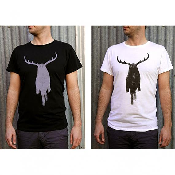 Black and White Dirty Harry Mens T-shirts designed and made in Australia by me and amber