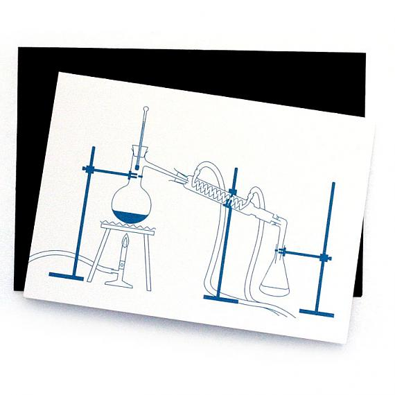 Distillation Greeting Card by Non-Fiction