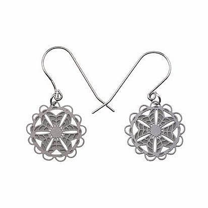 Doily Stainless Steel Earrings by Polli