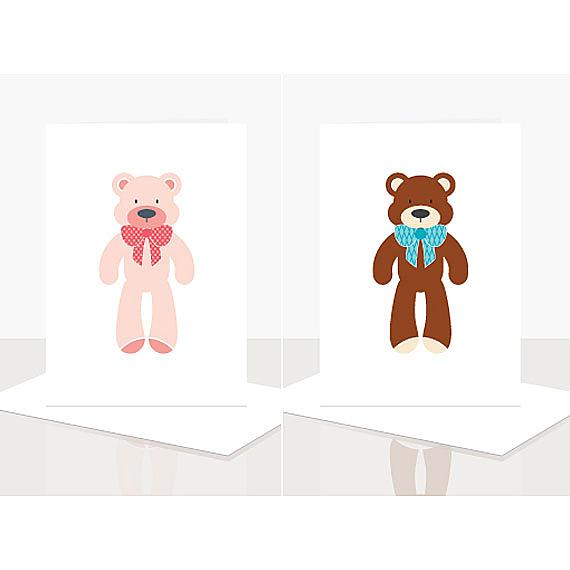 Bear Cards from the Eenie Meenie Miney Assorted Greeting Card Pack designed and handmade in Australian by Ella Leach Designs