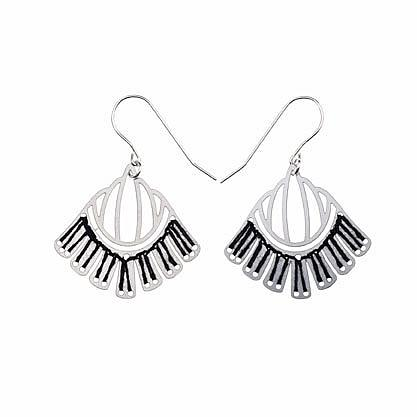 Woven Empire Earrings Ebony by Polli