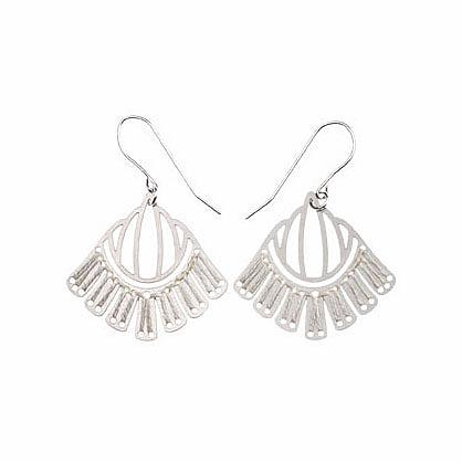 Woven Empire Earrings Ivory by Polli