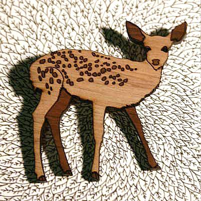 A Fawn Brooch by Bonnie Poplar