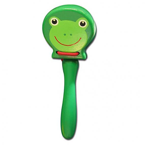 Wooden Frog Castanet With Handle designed in Australia by Fun Factory