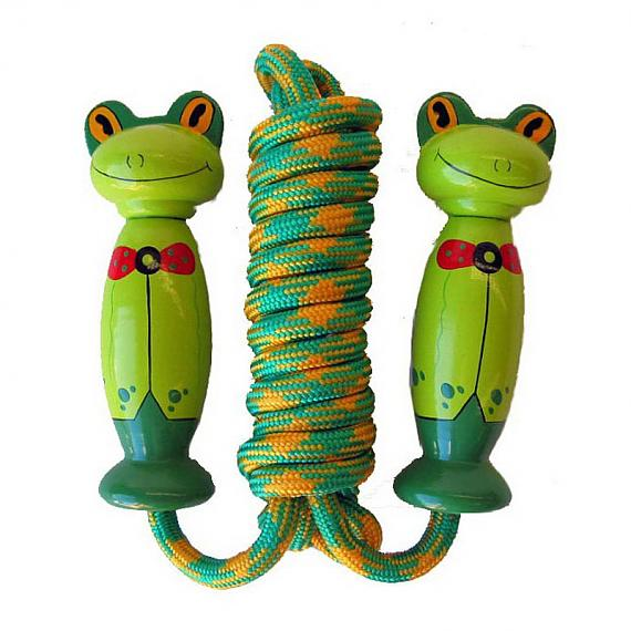 Wooden Frog Skipping Rope designed in Australia by Fun Factory