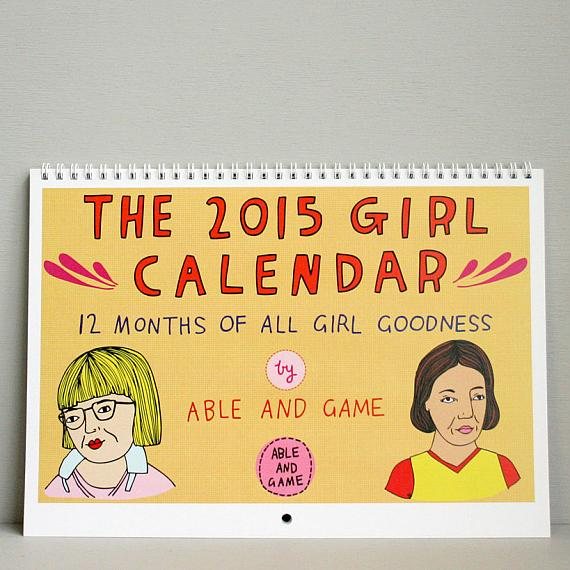 2015 Girl Calendar made in Melbourne by Able and Game