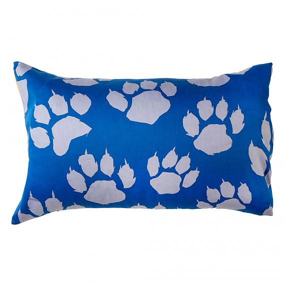 Grey Paw Leopard Print Reversible Pillowcase Front designed in Melbourne by Goosebumps