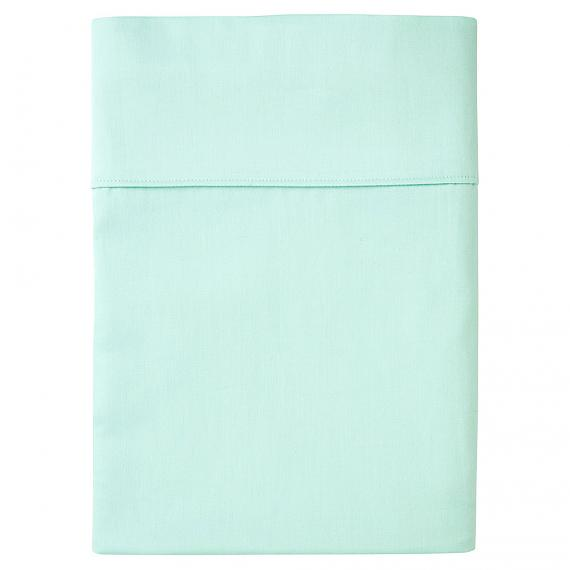 Plain Mint Flat Sheet - Single - designed in Melbourne by Goosebumps
