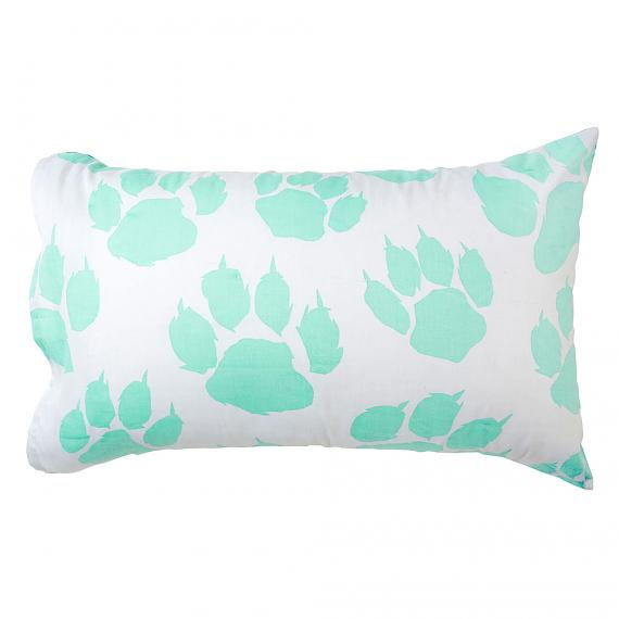 Mint Paw Leopard Print Reversible Pillowcase Front designed in Melbourne by Goosebumps