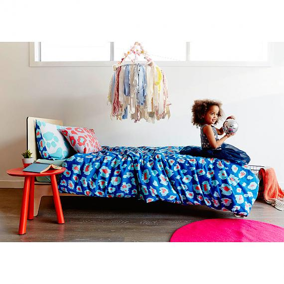 Mint Paw Leopard Print Reversible Pillowcase and Quilt Cover designed in Melbourne by Goosebumps