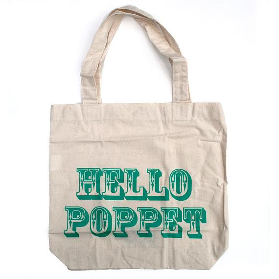 Hello Poppet Tote Bag by Bob Boutique