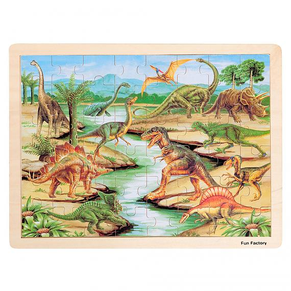 Large Wooden Dinosaur Jigsaw Puzzle designed in Australia by Fun Factory