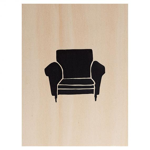 Armchair Print on Ply Black by me and amber