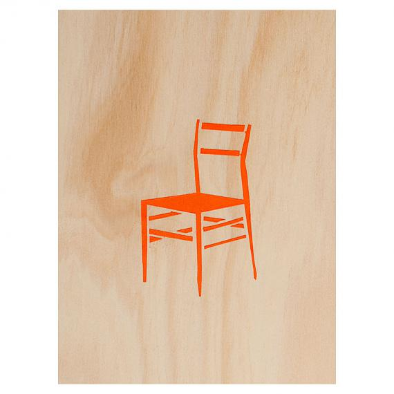Chair Number 2 Print on Ply Orange by me and amber