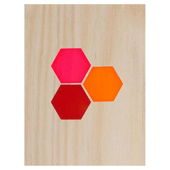 Hexagons Print on Ply Warms by me and amber