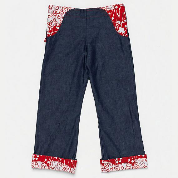 The Jetset Daks - Denim with Red Trim by Knuffle Kid