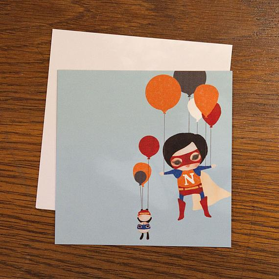 Lift Off Greeting Card by Schmooks