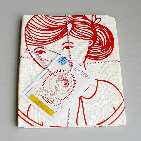 Tea Towel - You're All Sorts of Lovely - made in Melbourne by Able & Game