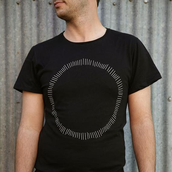 Black Circle Mens T-shirt made in Australia by me and amber