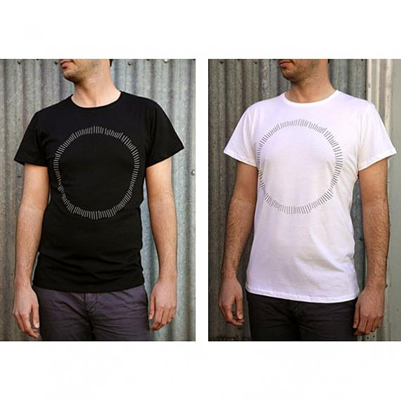 Black Circle and White Circle Mens T-shirts made in Australia by me and amber