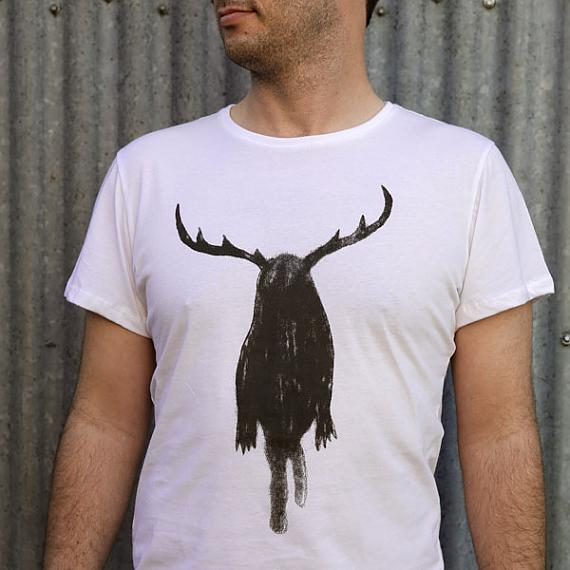 White Dirty Harry Mens T-shirt designed and made in Australia by me and amber