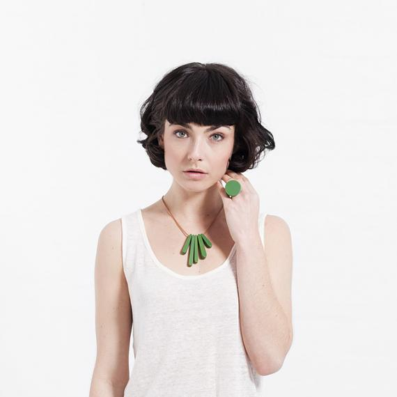 Bloom Necklace - Emerald Green, designed in Melbourne by mooku
