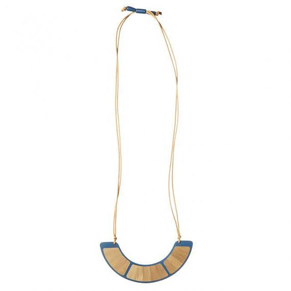 Resin Orb Necklace - Blue | Bamboo designed in Melbourne by mooku