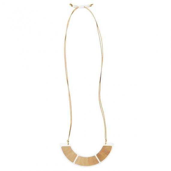 Resin Orb Necklace - White | Bamboo designed in Melbourne by mooku