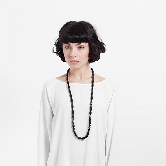 Seed Necklace - Black handmade in Melbourne by mooku