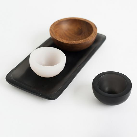 Trinket Bowls in resin and wood - handmade in Melbourne by mooku