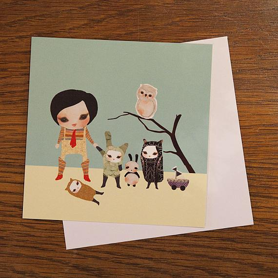 Neville's Friends Greeting Card by Schmooks