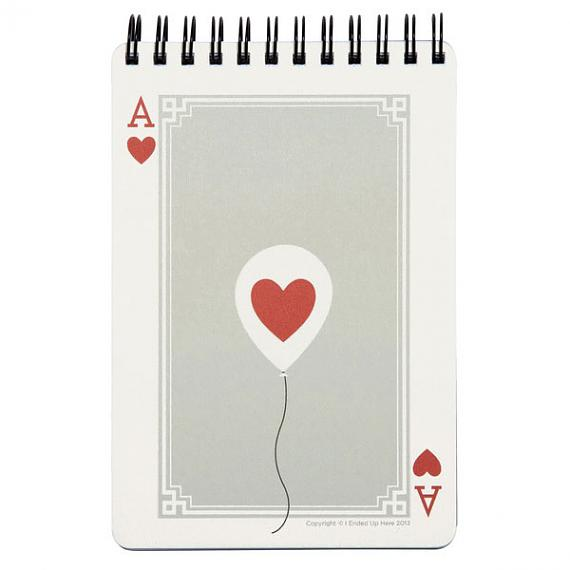 Ace of Hearts Notebook by I Ended Up Here